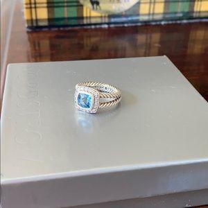 David Yurman Albion petite ring with blue topaz